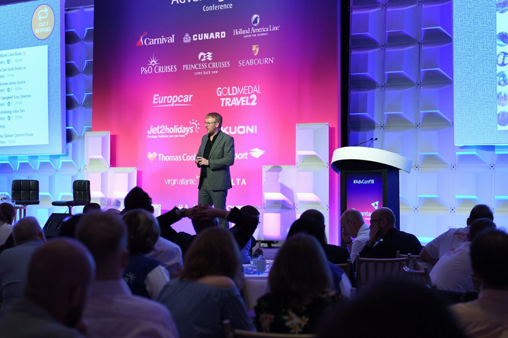 Main stage presentation at Advantage Travel Partnership Conference, Miami, 2018